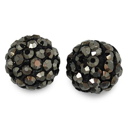 Koraliki shamballa hematite / czarne/ 10mm / 1szt-2400