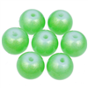 Koraliki powlekane pudrowe / szklane / zielony / 8mm / 20szt-9177