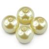 Koraliki perły perełki / szklane / beżowe, ecru / 10mm / 12szt-1426