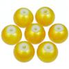 Koraliki powlekane pudrowe / szklane / żółte / 8mm / 20szt-9182