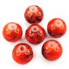 Koraliki kulki powlekane / szklane / pomarańczowe / 8mm / 15szt-1122