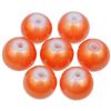Koraliki powlekane pudrowe / szklane / pomarańczowe / 8mm / 20szt-9186