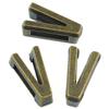 Nakładka na sznurki rzemienie litera V / metalowa / brązowa / 11mm / 4szt-8640