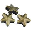 Nakładka na sznurki rzemienie gwiazdka / metalowa / brązowa / 16mm / 1szt-8642