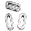 Nakładka na sznurki rzemienie litera O / metalowa / srebrna / 10mm / 4szt-8667
