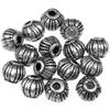 Przekładka beczułka zdobiona / akrylowa / srebrna / 8x6mm / 10szt-9154