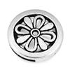 Ozdobna nakładka na rzemienie / metalowa / antyczna srebrna / 27mm / 1szt-3959