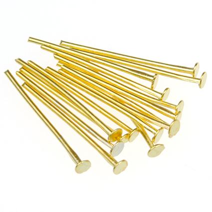 Szpilki nity pozłacane / metalowe / złote / 20mm / 100szt-7129