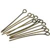 Szpilki haczyki z oczkiem / metalowe / ant.brązowe / 30x0.7mm / 50szt-8309