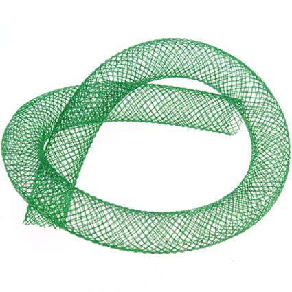 Siatka jubilerska rurka tunel na koraliki / zielona / 8mm / 1m-8722