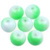 Koraliki DuoColor / szklane / biało-zielone / 8mm / 14szt-8526