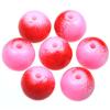 Koraliki DuoColor / szklane / różowo-czerwone / 8mm / 14szt-8532