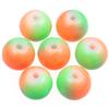 Koraliki DuoColor / szklane / zielono-pomarańczowe / 8mm / 14szt-8534