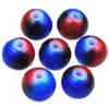 Koraliki DuoColor / szklane / czerwono-niebieskie / 8mm / 14szt-8537