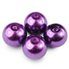 Koraliki perły / szklane / fioletowe / 10mm / 6szt-1428