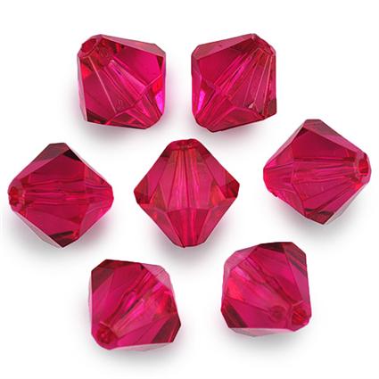 Koraliki diamenciki / akrylowe / różowe / 16mm / 4szt-1347