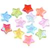 MIX koraliki gwiazdki opalizujące / akrylowe / multikolor / 10x4mm / 10szt -8000
