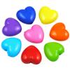 MIX koraliki serca serduszka / akrylowe / multikolor / 10x11x6mm / 10szt-7985