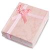 Ozdobne pudełko z kokardką na biżuterię prezent / różowe / 8x7x2cm-6735