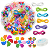 Zestaw kreatywny do biżuterii kwiatek / koraliki akrylowe / koraliki drewniane / gumka jubilerska 10m-9386