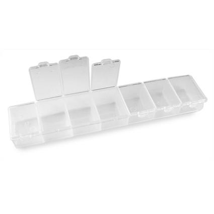 Organizer z przegródkami na koraliki / plastikowy / 155x33x18mm-5683