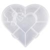 Organizer serce / przezroczysty / 9 przegródek / 16x13x3cm / 1szt-7666