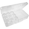 Organizer kuferek / plastikowy / biały, bezbarwny / 258x130x60mm / 1szt-8139