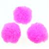 Pompony kreatywne pomponiki / nylonowe / różowe / 15mm / 20szt-7377