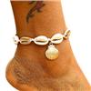 Bransoletka sznurkowa z muszelkami na nogę / 1szt-10570