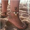 Bransoletka sznurkowa z muszelkami na nogę / 1szt-10572