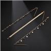 Komplet bransoletek łańcuszkowa złota gwiazdki na nogę / 1kpl-10555