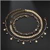 Komplet bransoletek łańcuszkowa złota gwiazdki na nogę / 1kpl-10556