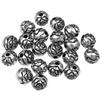 Koraliki róże różyczki kwiatki / akrylowe / srebrne / 6mm / 20szt-9569