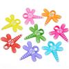 MIX koraliki ważki motylki / akrylowe / multikolor / 22x20mm / 12szt-9285
