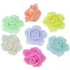 Mix koraliki pastelowe kwiatki róże 13x8mm / akrylowe / multikolor / 8szt-8970